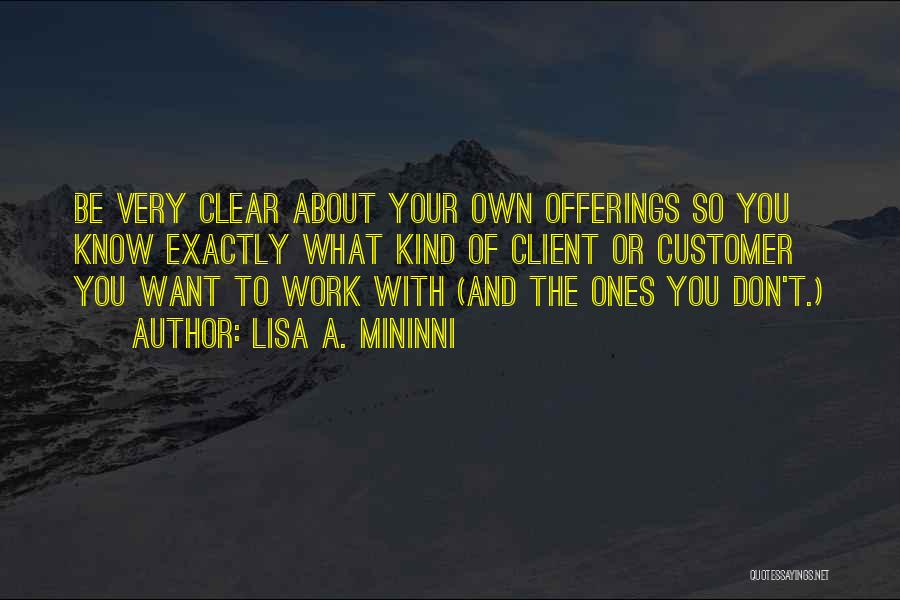 Offerings Quotes By Lisa A. Mininni