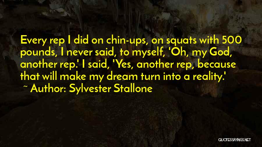 Oh Yes I Did Quotes By Sylvester Stallone