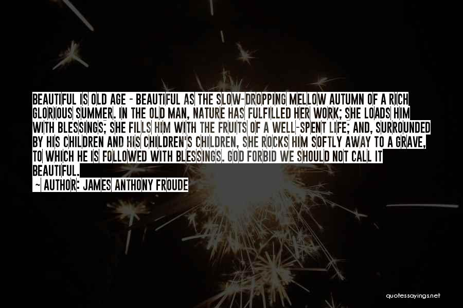 Old Age Life Quotes By James Anthony Froude