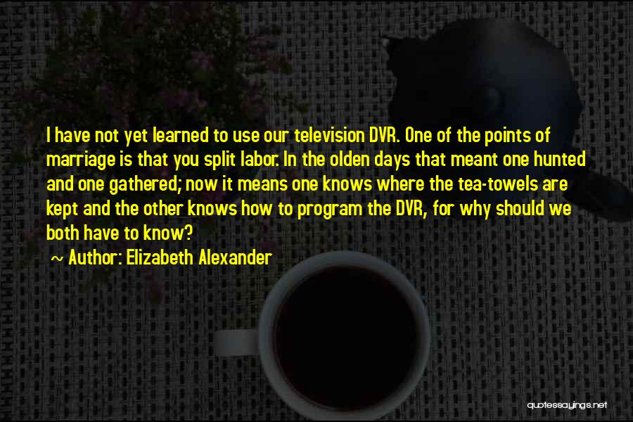 Olden Quotes By Elizabeth Alexander