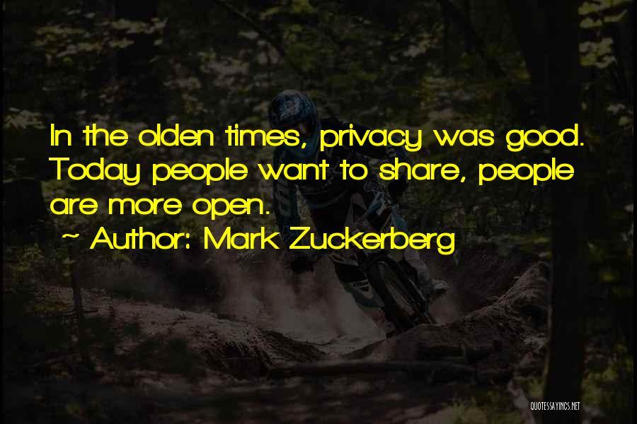 Olden Quotes By Mark Zuckerberg