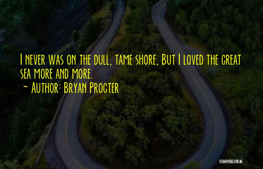 On The Sea Quotes By Bryan Procter