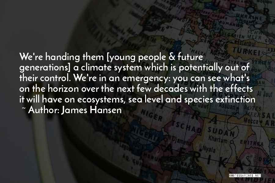 On The Sea Quotes By James Hansen