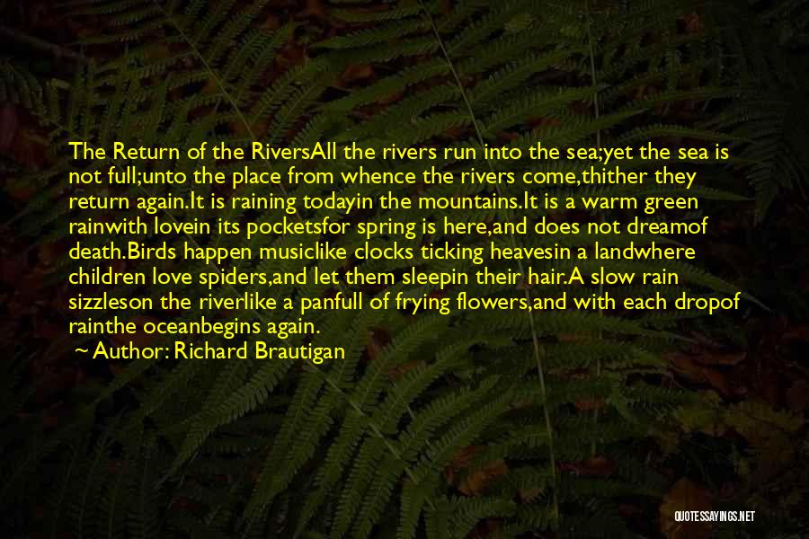 On The Sea Quotes By Richard Brautigan