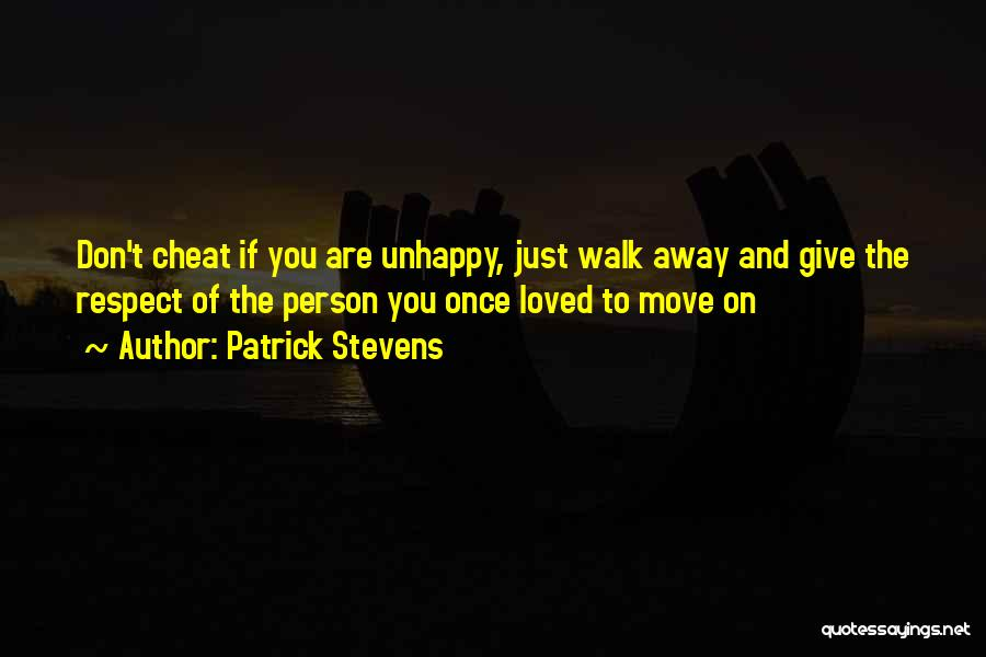 Once A Cheat Quotes By Patrick Stevens