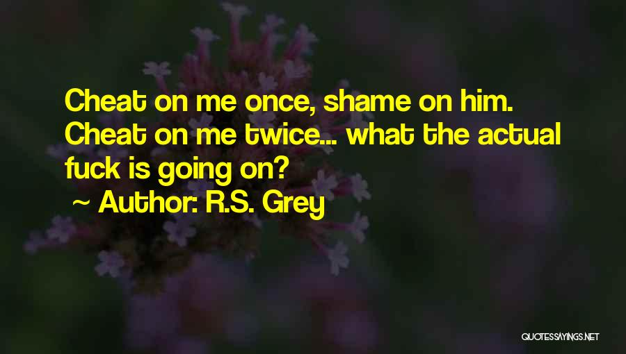 Once A Cheat Quotes By R.S. Grey
