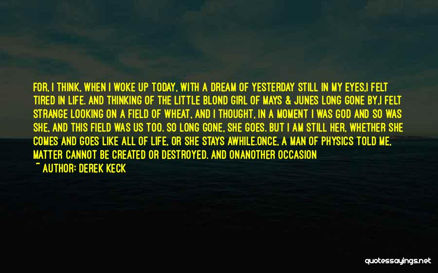 Once A Dream Quotes By Derek Keck
