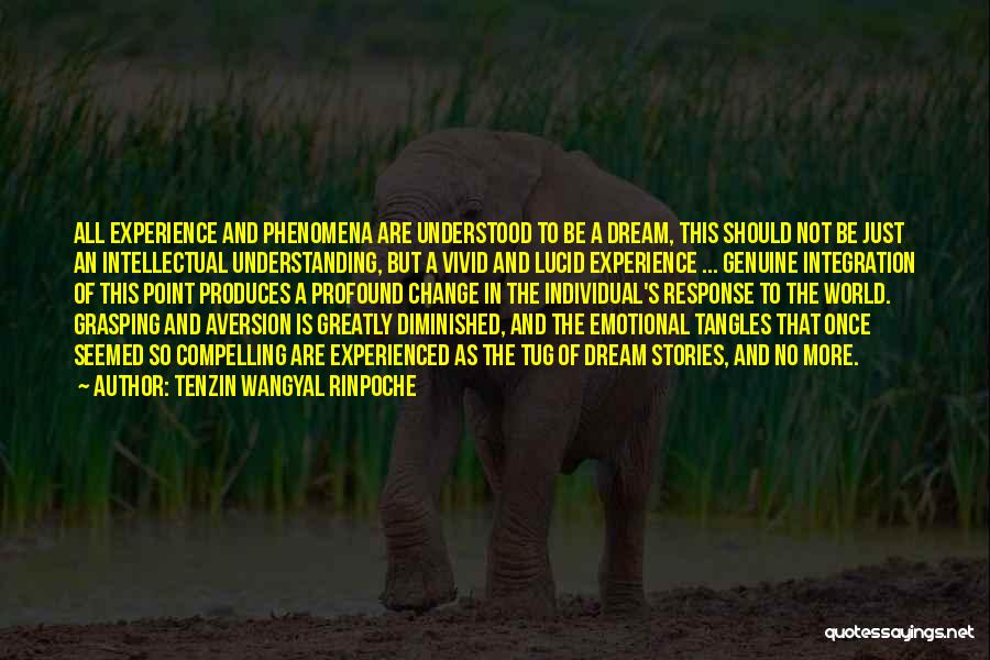 Once A Dream Quotes By Tenzin Wangyal Rinpoche