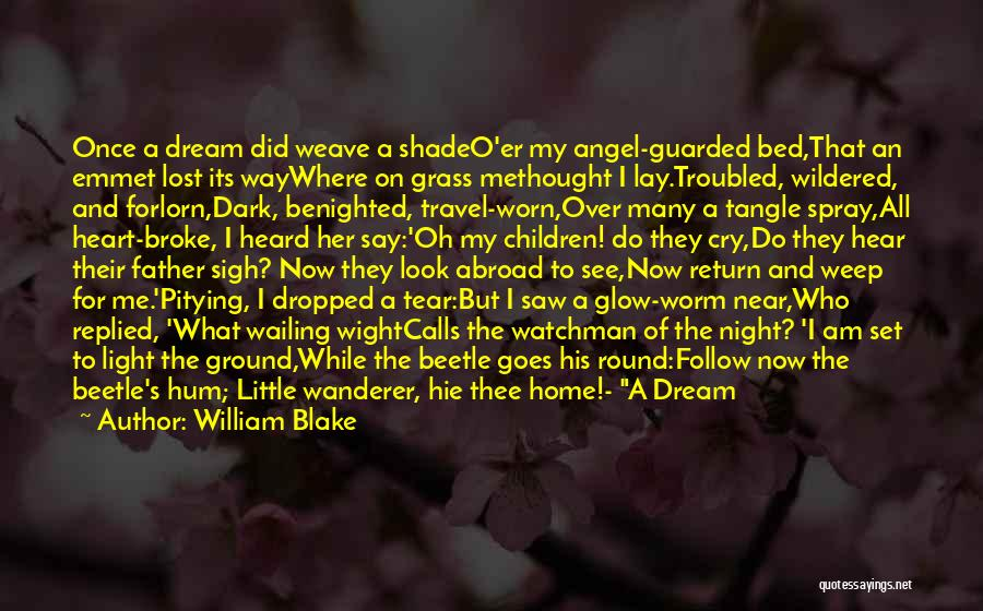 Once A Dream Quotes By William Blake