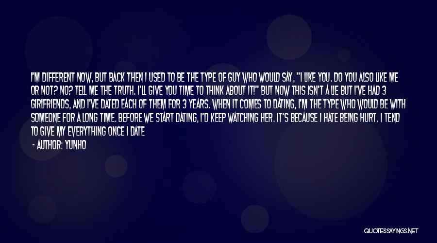 Once I Hate You Quotes By Yunho