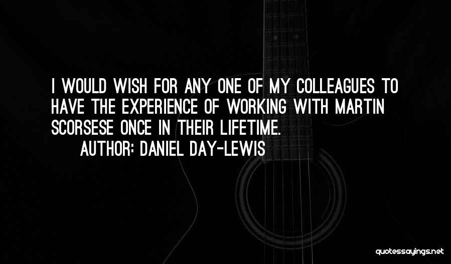 Once In Lifetime Experience Quotes By Daniel Day-Lewis