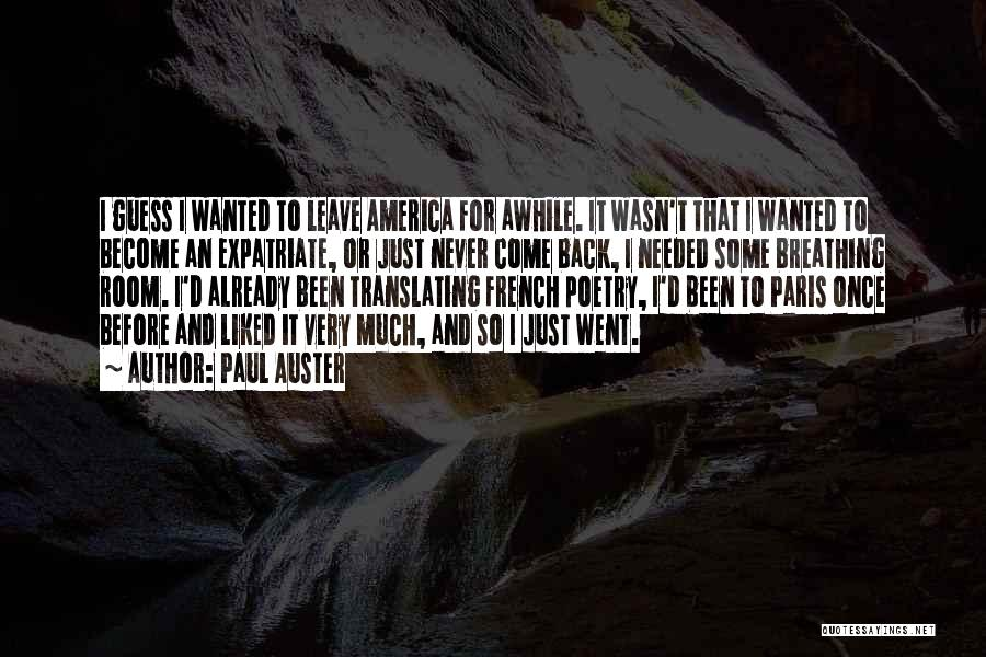 Once Upon In America Quotes By Paul Auster