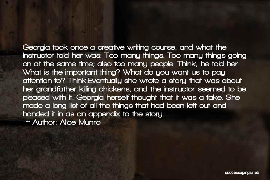 Once Wrote Quotes By Alice Munro