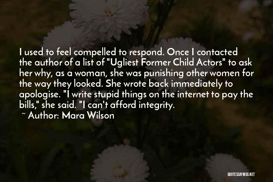 Once Wrote Quotes By Mara Wilson