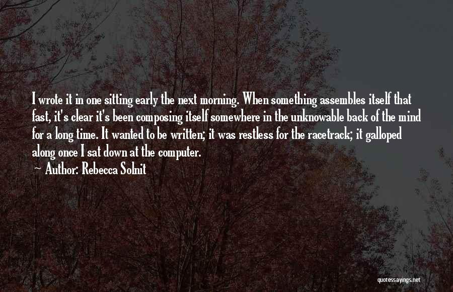 Once Wrote Quotes By Rebecca Solnit