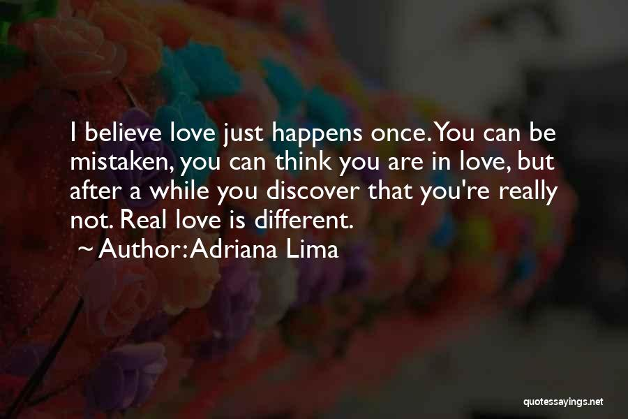 Once You're In Love Quotes By Adriana Lima