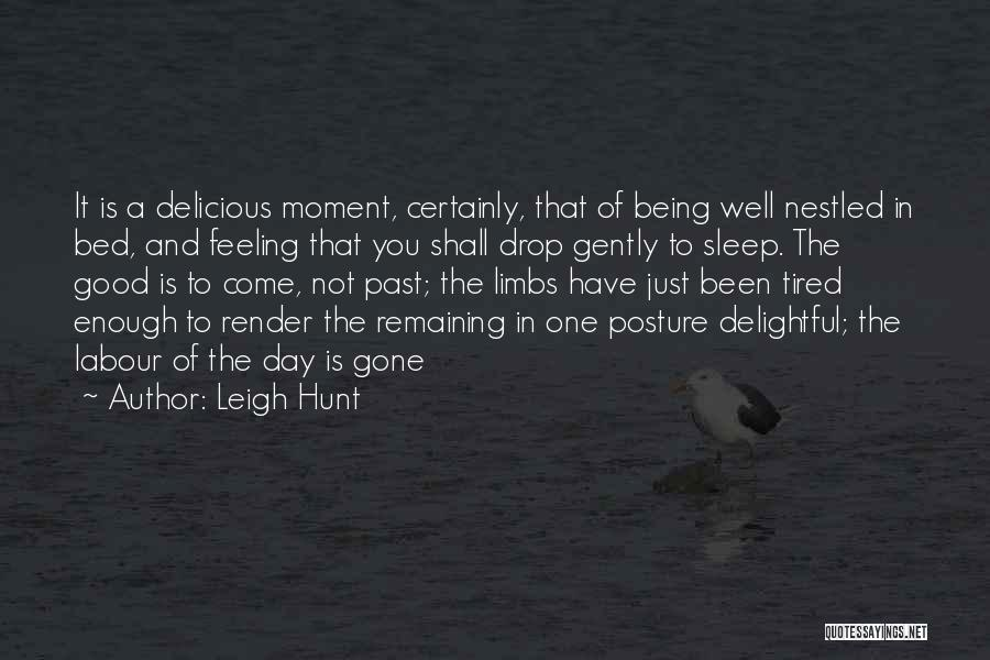 One Day Being Good Enough Quotes By Leigh Hunt