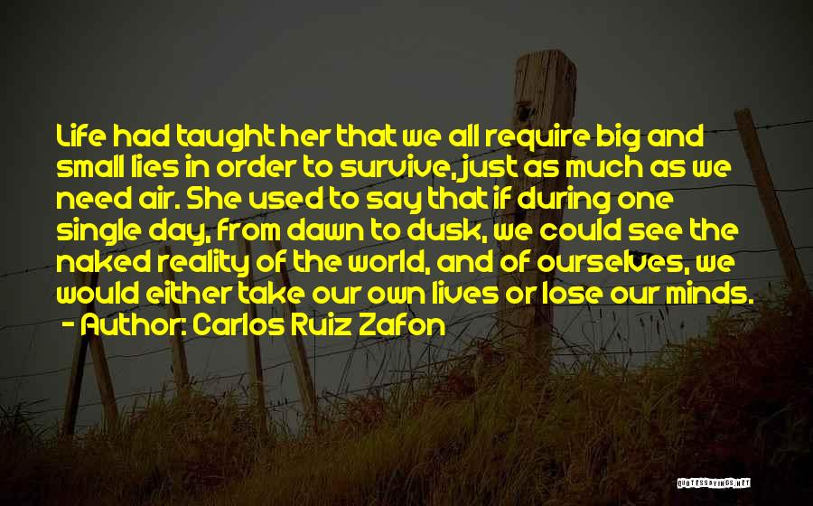 One Day You'll Lose Me Quotes By Carlos Ruiz Zafon