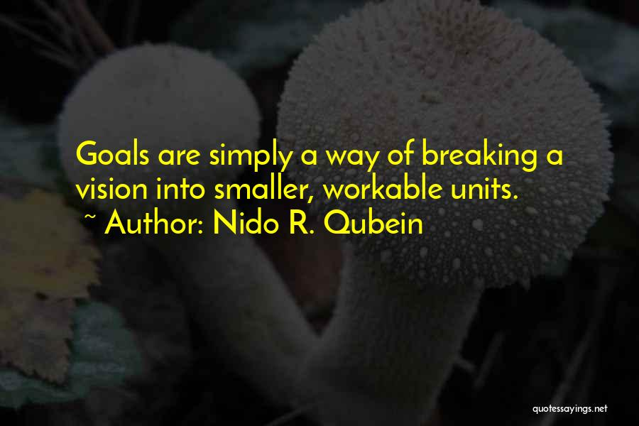 One Goal One Vision Quotes By Nido R. Qubein
