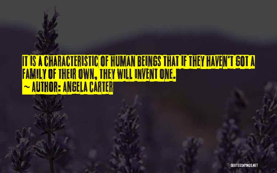 One Human Family Quotes By Angela Carter