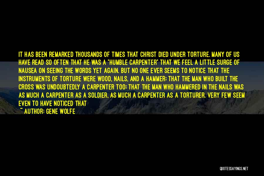 One Man Soldier Quotes By Gene Wolfe