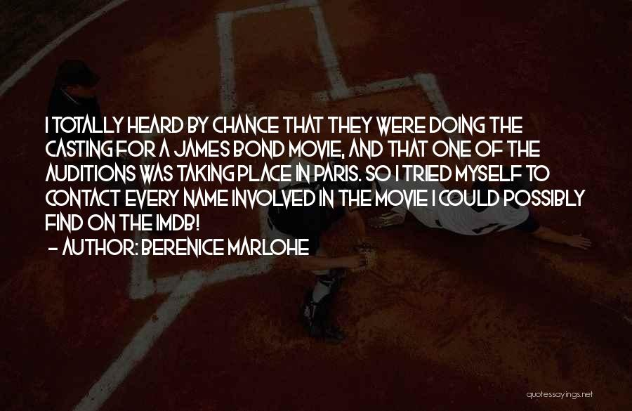 One More Chance Movie Quotes By Berenice Marlohe