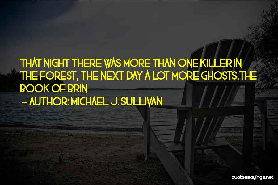 One More Night Quotes By Michael J. Sullivan