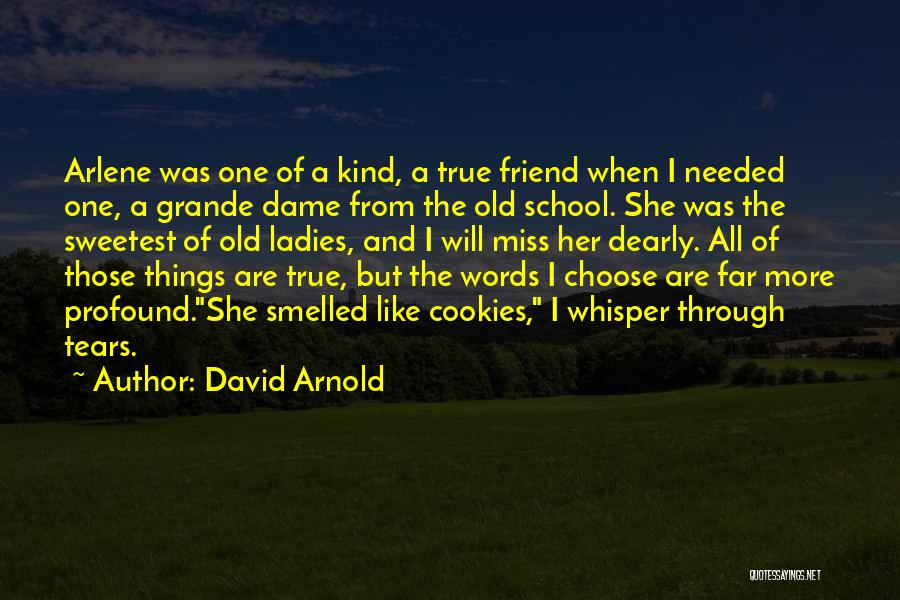 One Of A Kind Best Friend Quotes By David Arnold