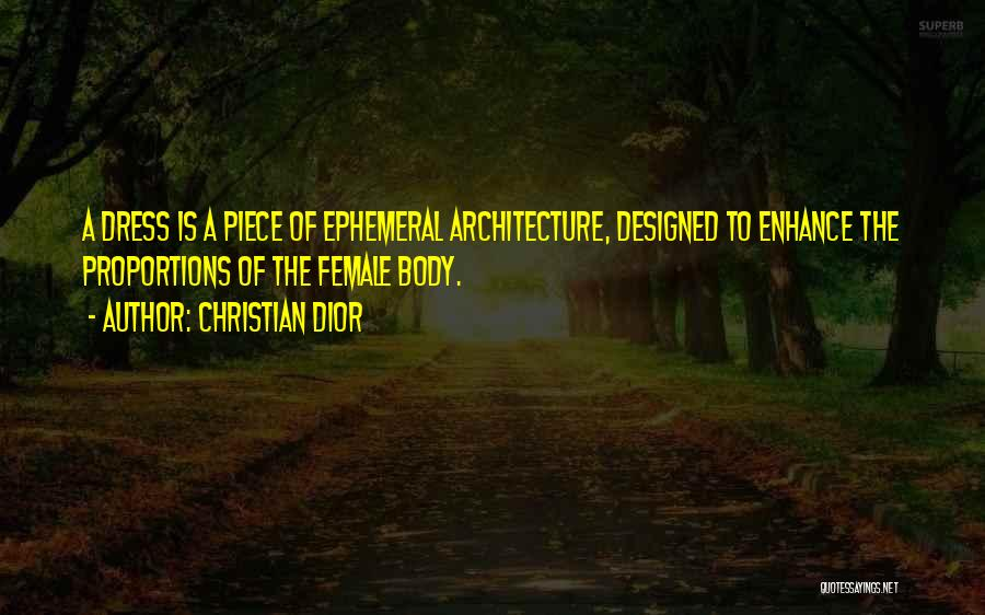One Piece Dress Quotes By Christian Dior