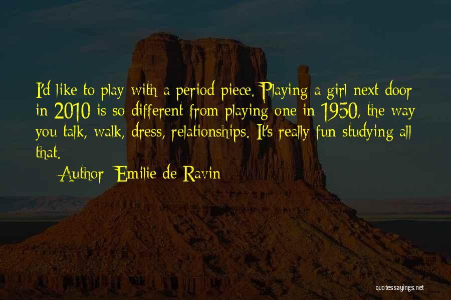 One Piece Dress Quotes By Emilie De Ravin