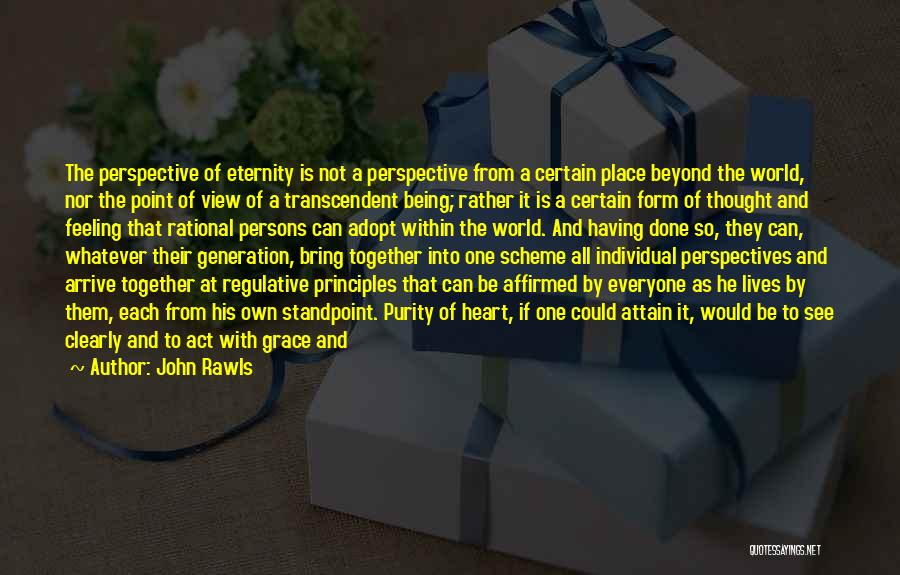 One Point Perspective Quotes By John Rawls