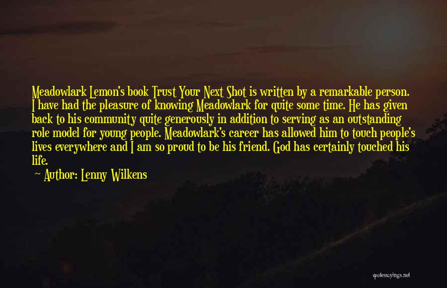 One Shot Book Quotes By Lenny Wilkens