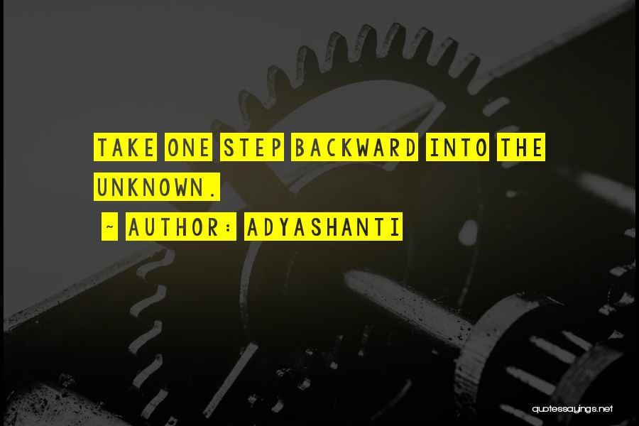 One Step Backward Quotes By Adyashanti