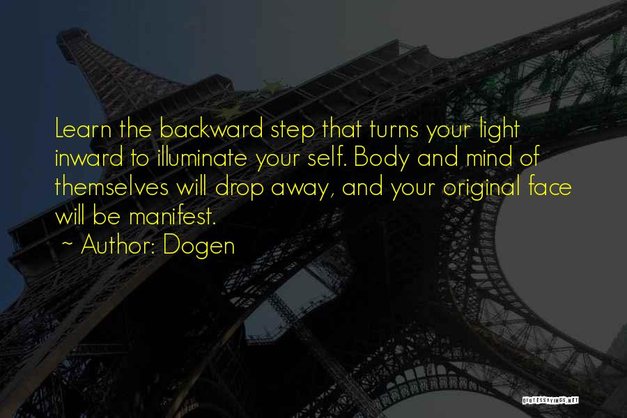 One Step Backward Quotes By Dogen