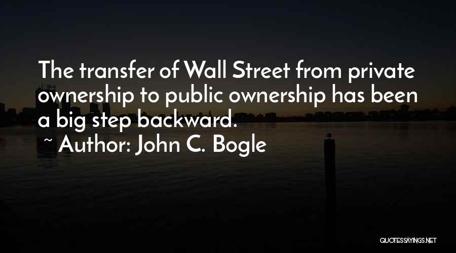 One Step Backward Quotes By John C. Bogle