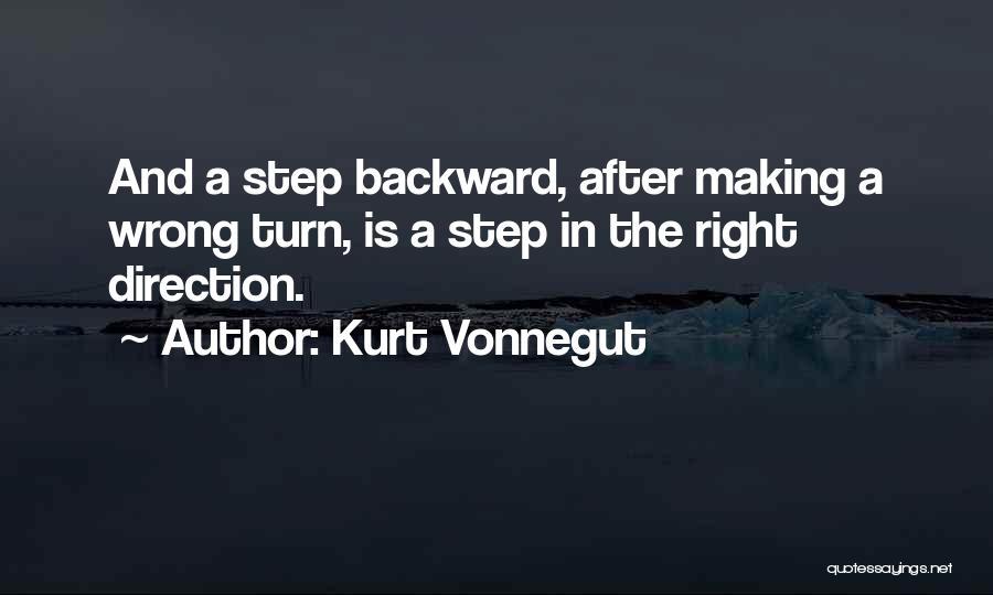 One Step Backward Quotes By Kurt Vonnegut
