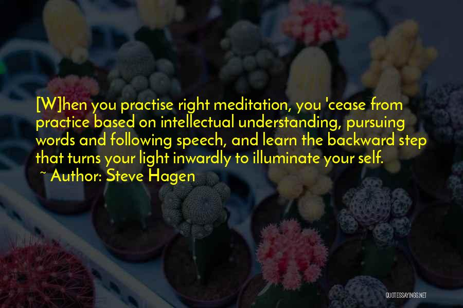 One Step Backward Quotes By Steve Hagen