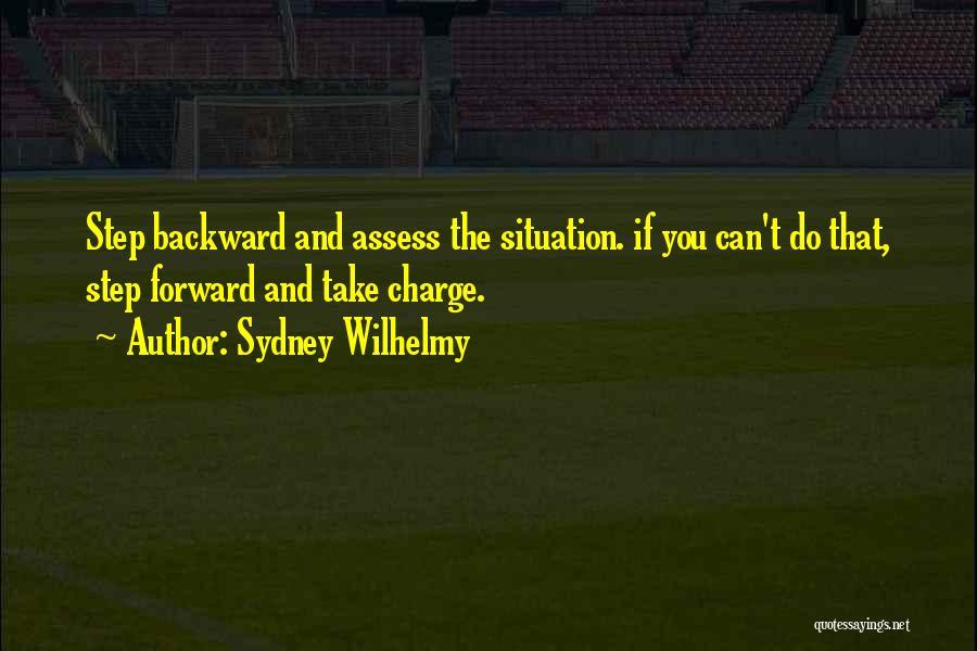 One Step Backward Quotes By Sydney Wilhelmy