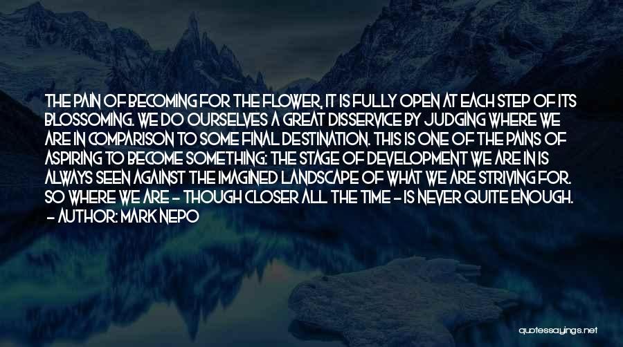 One Step Closer Quotes By Mark Nepo