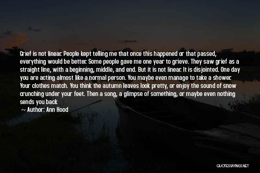 One Step Forward Quotes By Ann Hood
