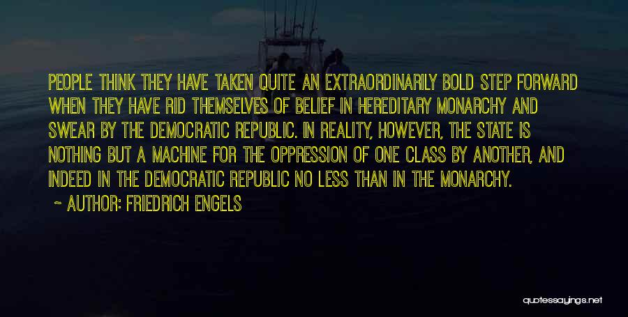 One Step Forward Quotes By Friedrich Engels