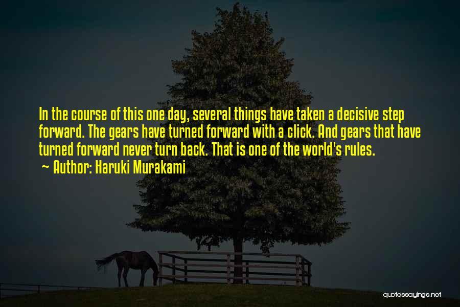 One Step Forward Quotes By Haruki Murakami