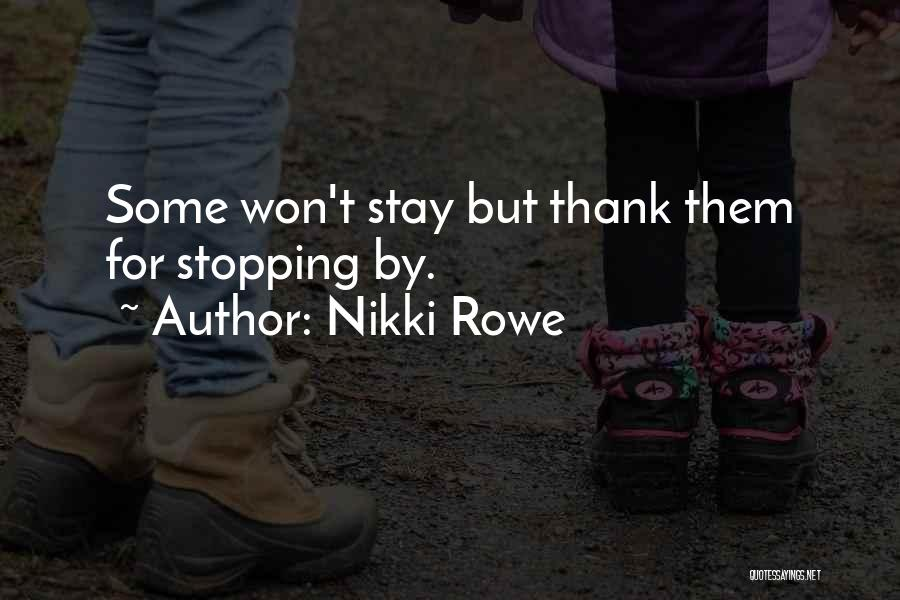 One Step Forward Quotes By Nikki Rowe