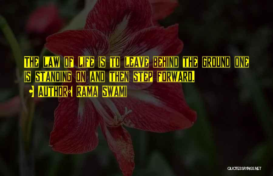 One Step Forward Quotes By Rama Swami