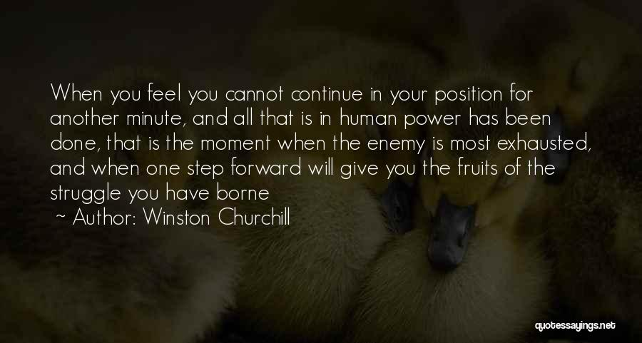 One Step Forward Quotes By Winston Churchill