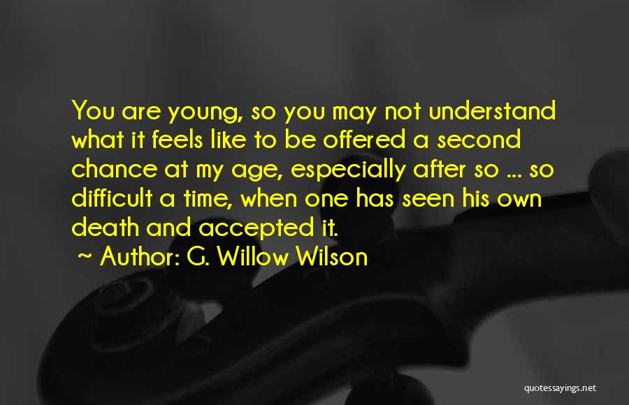 One Time Chance Quotes By G. Willow Wilson