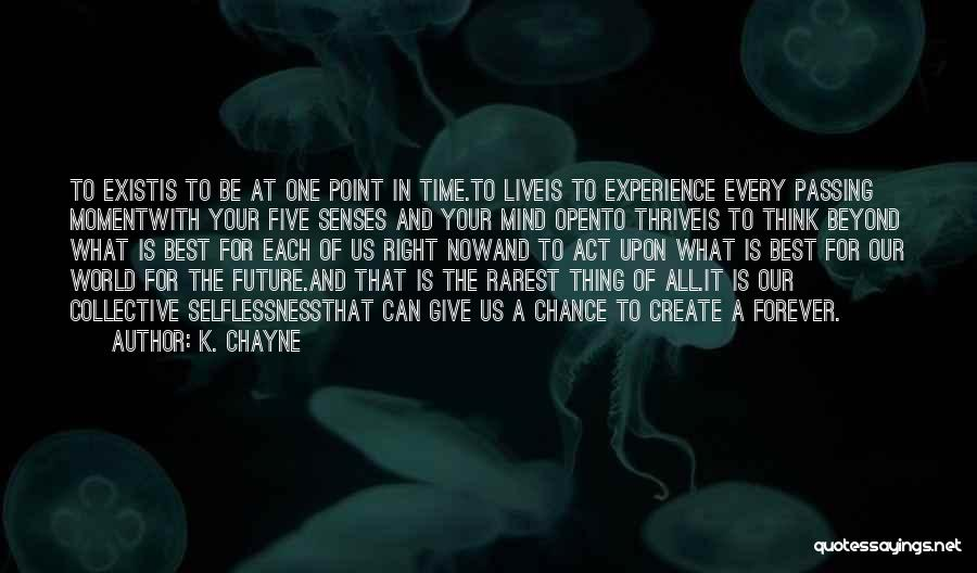 One Time Chance Quotes By K. Chayne
