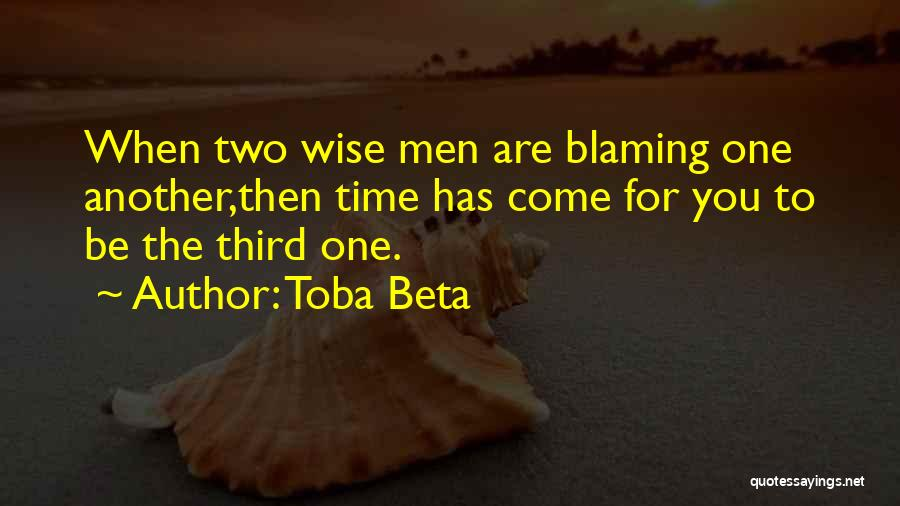 One Time Chance Quotes By Toba Beta