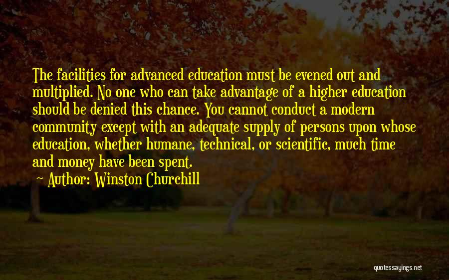 One Time Chance Quotes By Winston Churchill