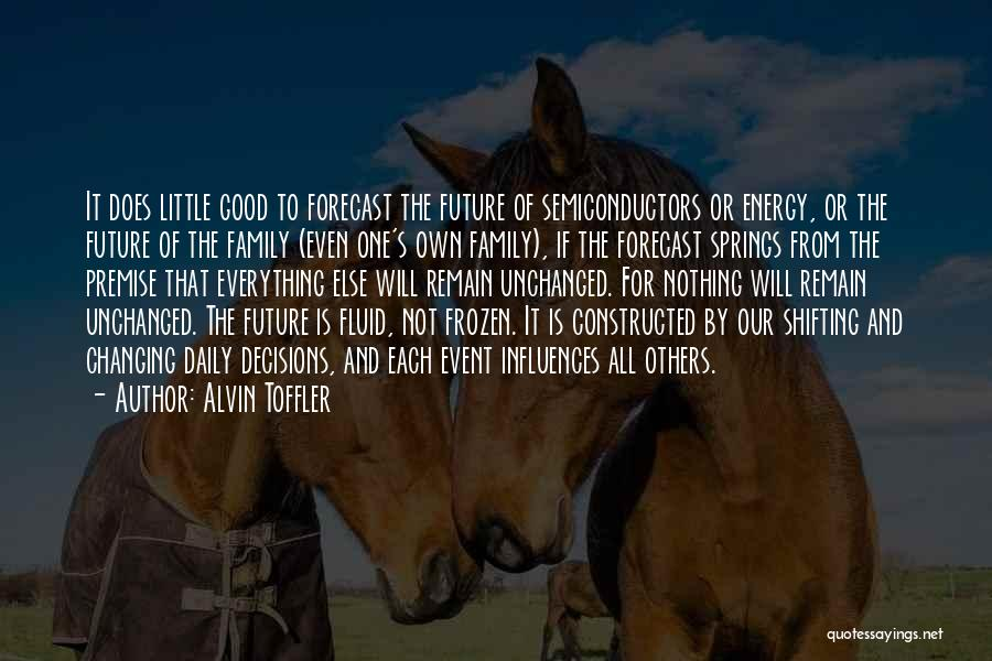 One's Future Quotes By Alvin Toffler